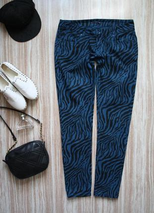 Необычные тонкие джинсы скинни №176