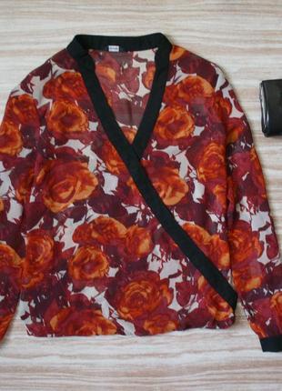 Актуальная шифоновая блуза на запах №99