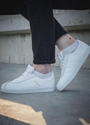 Кроссовки adidas gazelle кеды белые