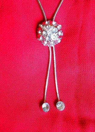 Ожерелье с подвеской в стиле диор швеция 🌟 под серебро 💎инкрус...
