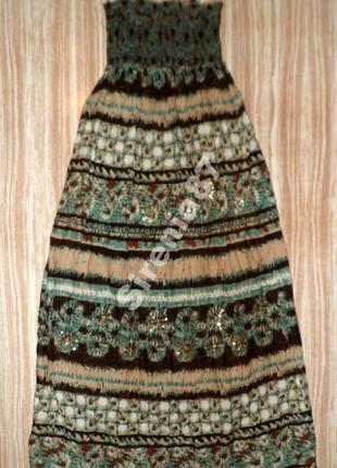 Красивое макси платье №387