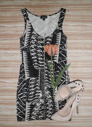 Sale актуальное мини платье с молнией спереди №84