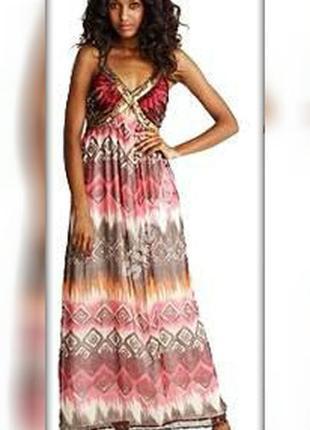 Стильное макси платье №124