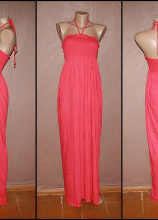 Стильное красное макси платье.№184