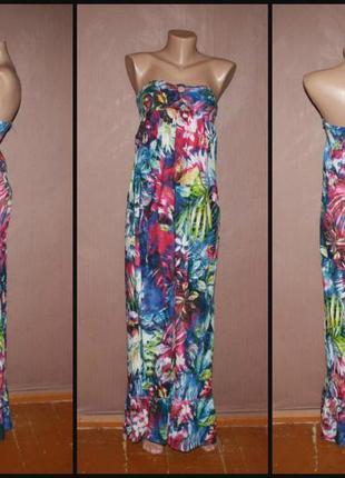 Яркое макси платье №361