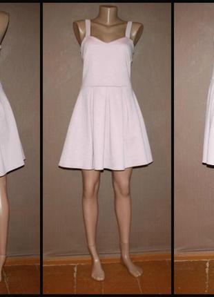 №263 стильное розовое платье