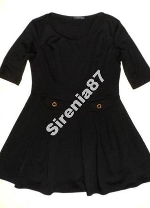 №4 черное миди платье