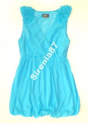 №191 голубое шифоновое платье