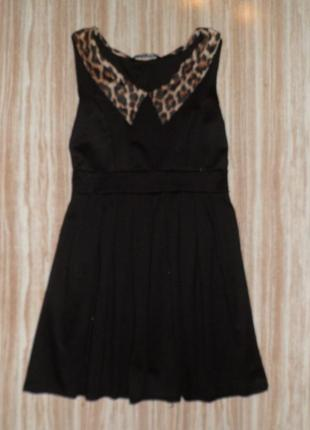 #141 стильное мини платье с воротничком