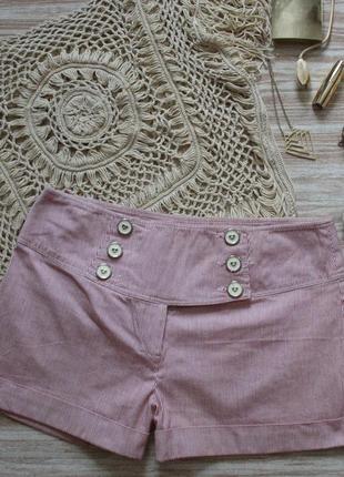 №210 джинсовые шорты в полоску