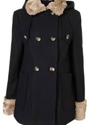 Стильное шерстяное пальто для будущей мамы  topshop