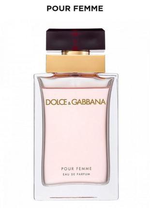 Dolce&gabbana pour femme  парфюмерная вода, спрей 100 мл