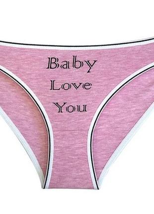 """Трусики женские """"baby love"""", размер s"""
