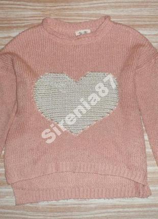 №16 стильный свитер с сердцем  new look
