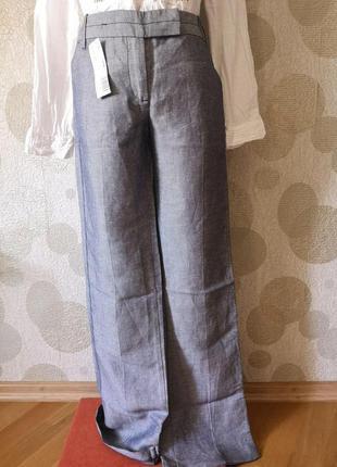 Льняные новые стильные брюки