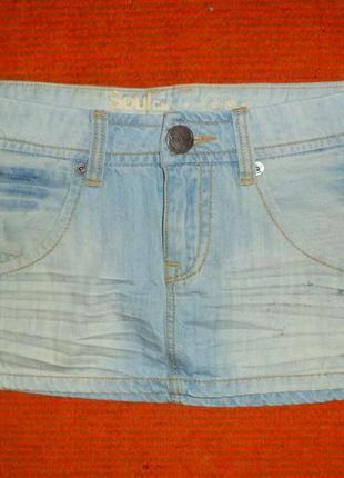 №65 стильная джинсовая мини юбка  soulcal&co