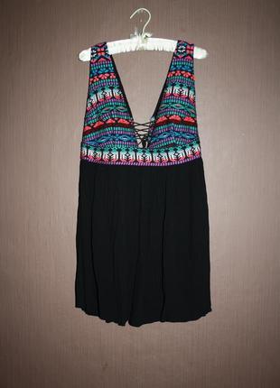 Актуальное платье туника в стиле бохо №173