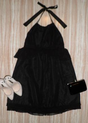 Актуальное черное платье с баской zara. №79  zara