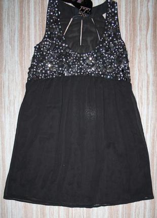 Нарядное платье в камнях  new look