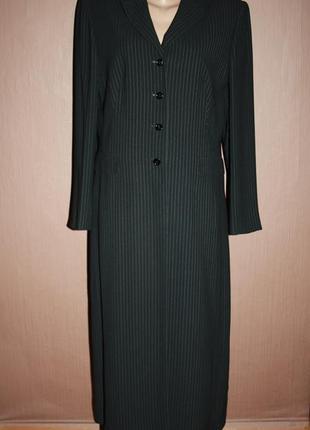 Стильный офисный костюм с длинным пиджаком высокий рост #218 b...