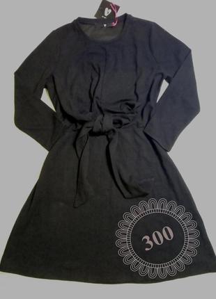 Платье чёрное трикотаж, р-р 48-50, длина по колено