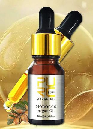 Аргановое масло для волос и тела PURC PURE 100% натуральное 10 мл