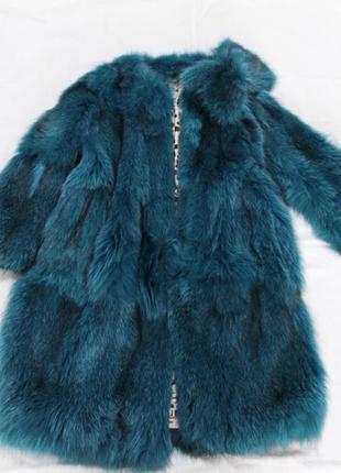 Шуба пальто натуральный мех missoni оригинал