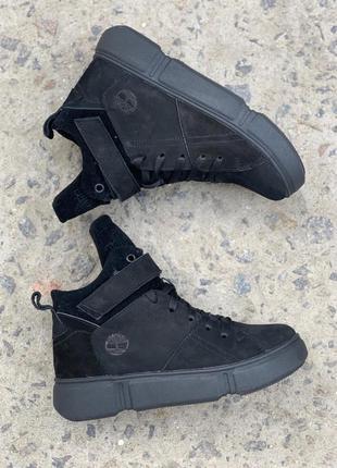 Ботинки женские road-style бс105-01z черные (замша, зима)