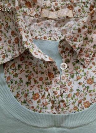 Кофточка с обманкой рубашкой