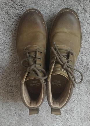 Ботинки clarks кожа р.43  свежие 9/18 года