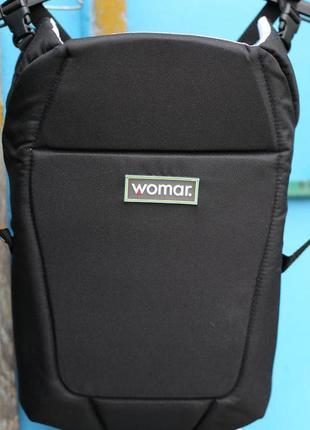 Рюкзак переноска для детей womar globetroter №7 standart (черный)