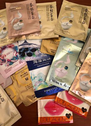 Корейские тканевые маски с протеинами шелка.