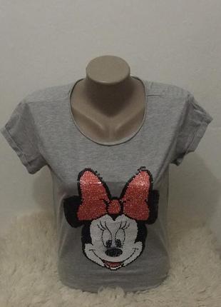 Оригинальная женская футболка с микки маусом disney. размер s
