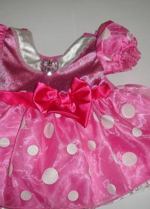 Фирменное disney яркое красивое платье девочке на 6-12 месяцев