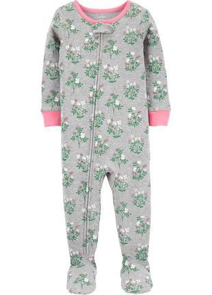 Слип с ножками, пижама, 3т с цветами carters, картерс
