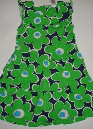 Фирменное carters яркое платье хлопок на 3 года в новом состоянии