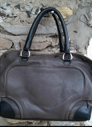 Furla оригинал сумка 25*29*15 натуральная кожа натуральная замша
