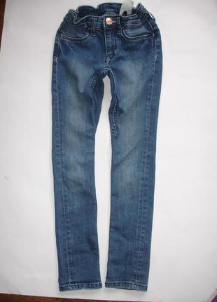 Фирменные denim джинсы скинни девочке 7-8 лет идеал