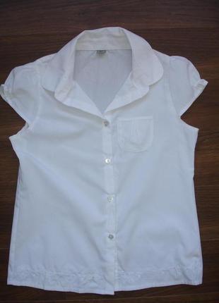 Фирменная tu школьная блузка рубашка девочке 11-12 лет новая