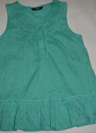 Фирменная george яркая блузка шитье девочке 10-11 лет идеал