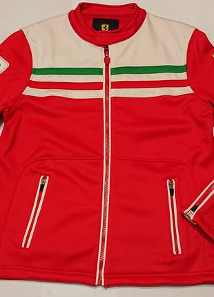 Мужская куртка олимпийка толстовка ferrari xl, наш 50-52 флис ори