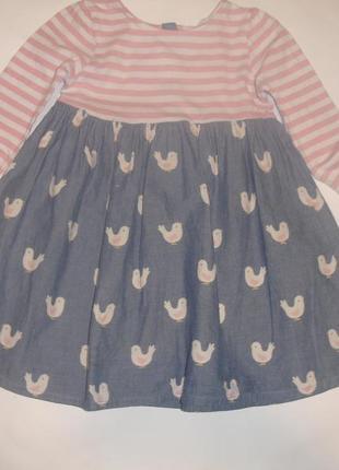 Фирменное стильное платье девочке 2-3 лет отличное
