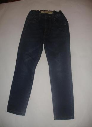 Фирменные denim джинсы скинни мальчику 6-7 лет в новом состоянии