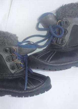 Фирменные gap зимние термо сапоги мальчику на 24 размер в ново...