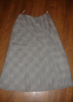 Фирменная шерстяная юбка италия на 52 размер идеал