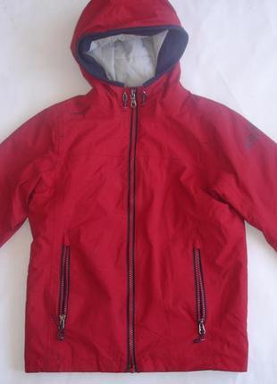 Фирменная теплая деми куртка мальчику 7-8 лет отличная