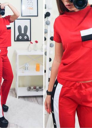 🔥новинка🔥крутой спортивный костюм брюки на кнопках + футболка/...