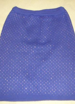 Фирменная теплая юбка электрик 48-50 размер