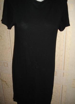Маленькое черное платье от zara woman 44 размер