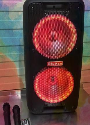 Аккумуляторная колонка 2 радиомикрофона 1010. Texkontora акустика